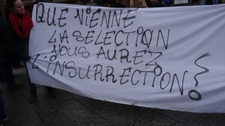 Enseignants, lycéens, étudiants dans la rue à Strasbourg