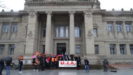 Mobilisation des professionnel-le-s de la justice à Strasbourg