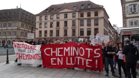 Strasbourg: cheminots et étudiants ensemble