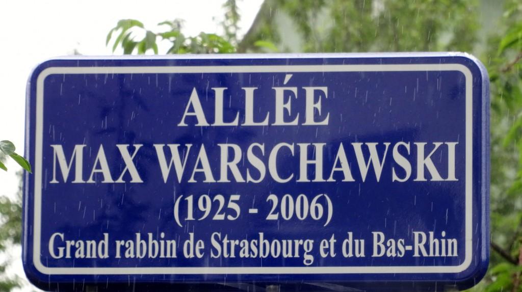 Inauguration d'une allée Max Warschawski à Strasbourg