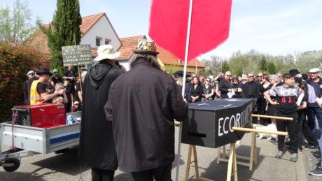 Enterrement du GCO à Eckwersheim