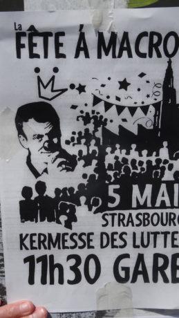 La fête à Macron à Strasbourg