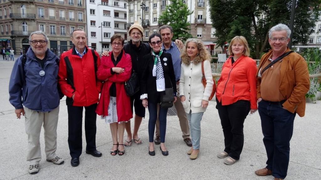 Après l'agression de Pierre Stambul par le Raid, un rassemblement à Strasbourg