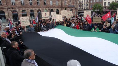1500 manifestants pour la Palestine à Strasbourg