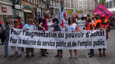Strasbourg manifeste pour la Fonction publique dans l'unité intersyndicale