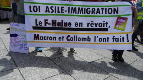 Manifestation contre l'Arcadia, Aube dorée et pour les immigrés