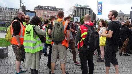 Lycéens solidaires des cheminots à Strasbourg