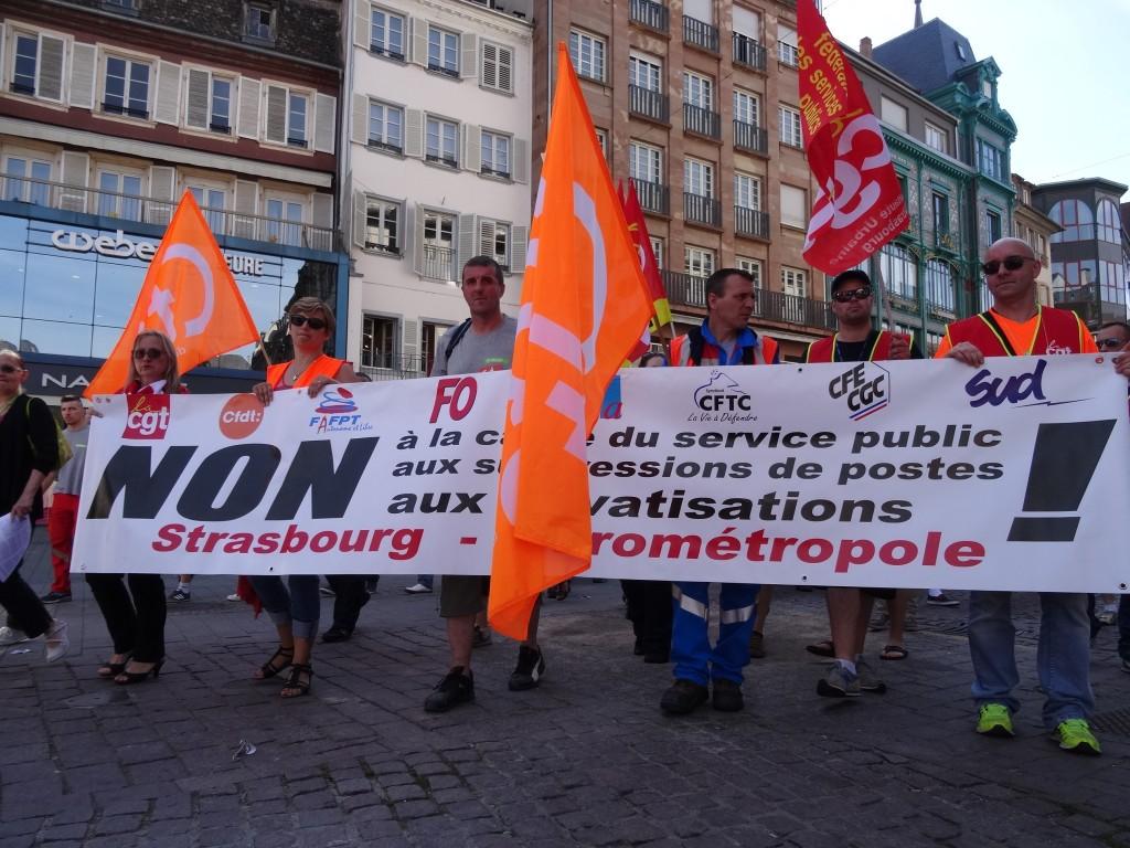 Intersyndicale Eurométropole Strasbourg en grève