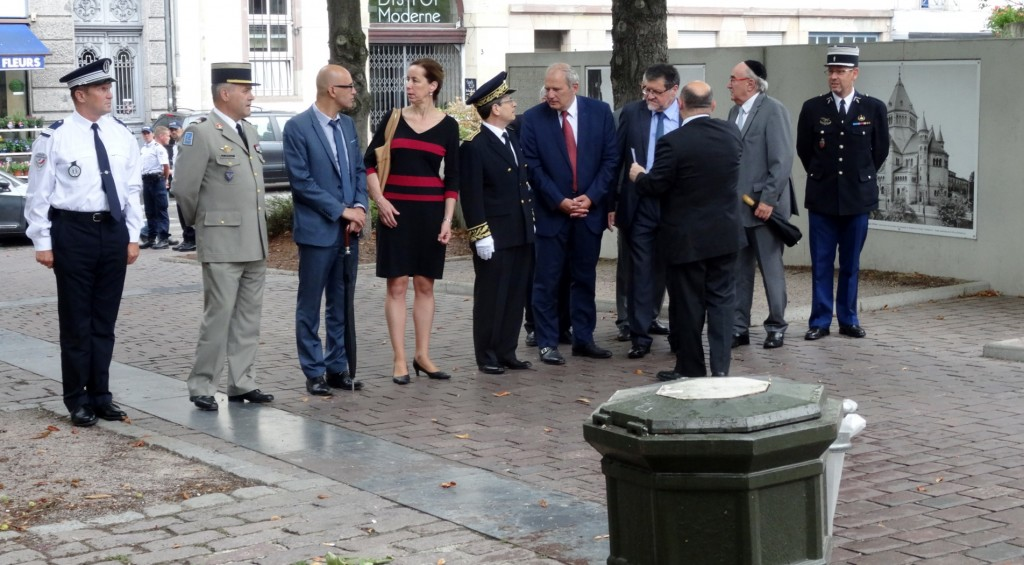 Allée des Justes à Strasbourg: commémoration de la rafle des Juifs des 16/17 juillet 1942