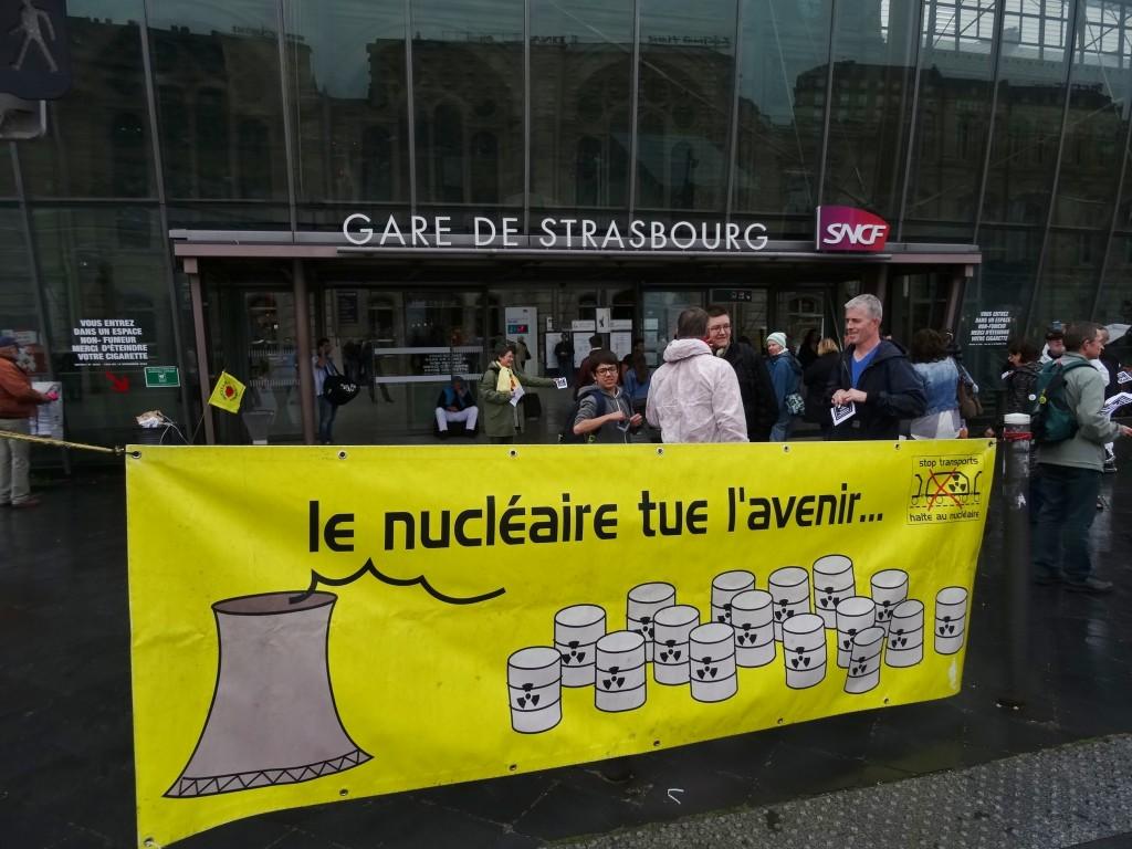 ALERTE ! Pas de trains de déchets nucléaires en Alsace ni ailleurs !