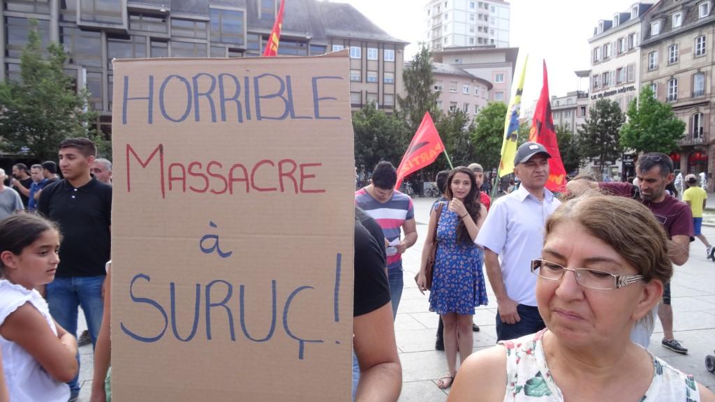 Massacre de Kurdes à Suruç et manifestation à Strasbourg