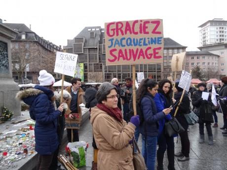 Pour Jacqueline Sauvage, à Strasbourg