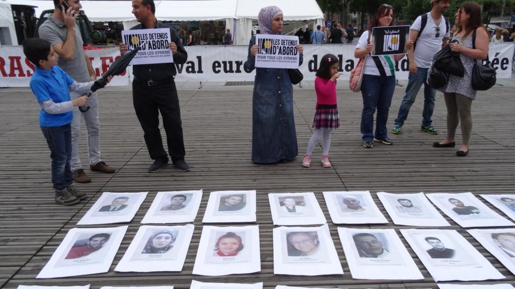 Pour les détenus syriens
