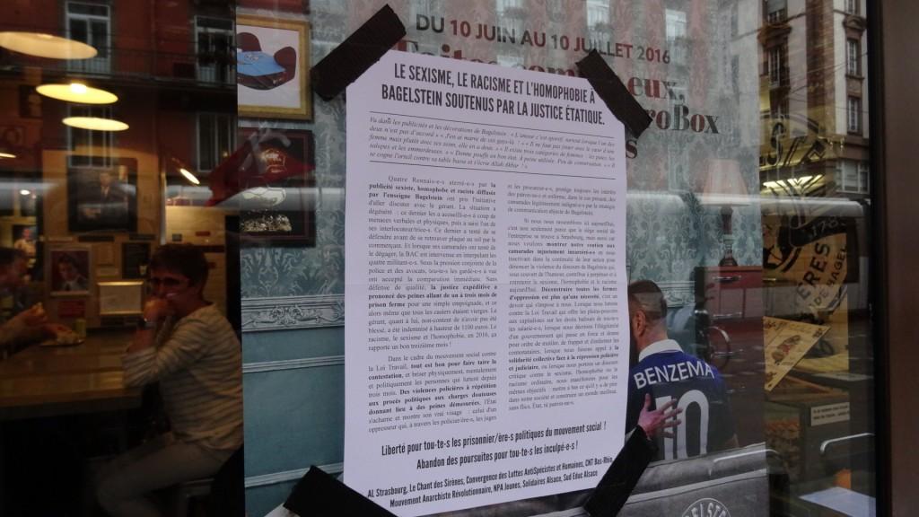 Bagelstein: non au sexisme, au racisme, à l'homophobie!