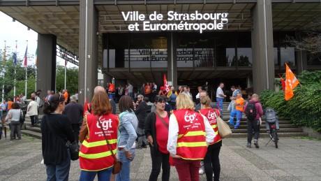 Strasbourg Eurométropole: grève et rassemblement