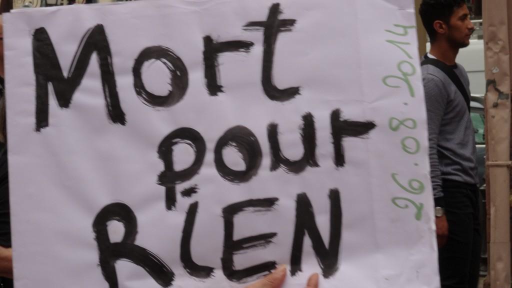 Hocine Bouras Vérité et Justice: manifestation à Colmar
