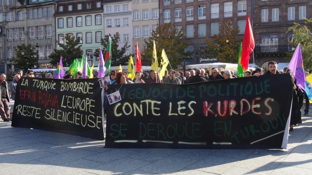 Les Kurdes manifestent à Strasbourg contre la répression de Erdogan