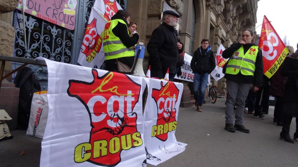 Grève et rassemblement au CROUS