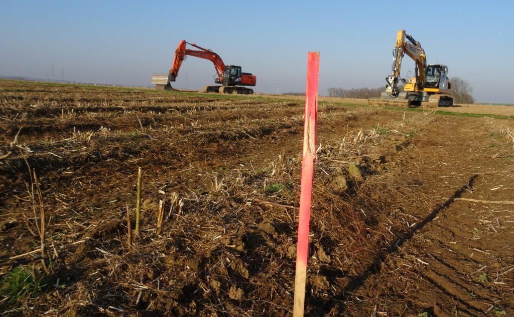 Les pelleteuses de Vinci entrent dans le Kochersberg et creusent à moins de 3km de la zone de protection stricte