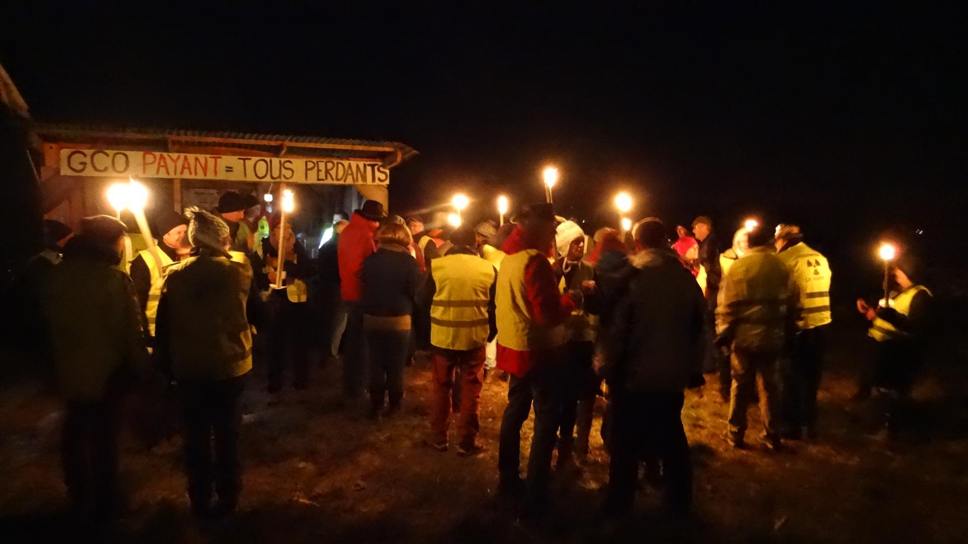 Nocturne anti GCO à la cabane de Kolbsheim