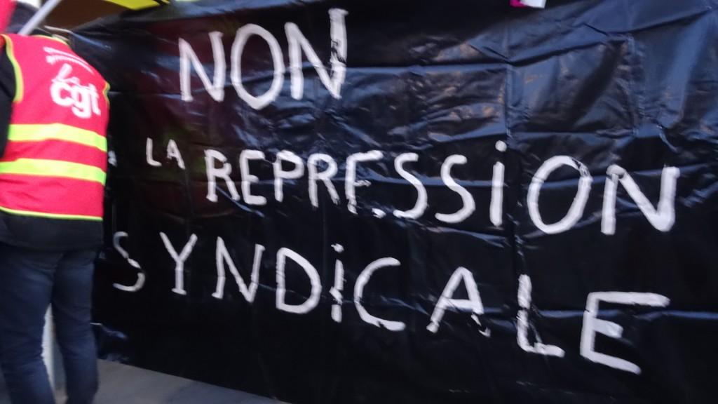 Rassemblement intersyndical pour la relaxe des 6 syndicalistes de Haguenau