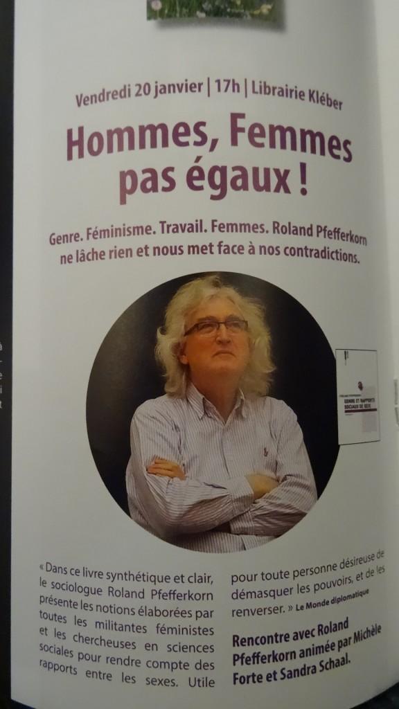 """"""" Hommes, femmes, pas égaux"""" [ même grammaticalement…]"""