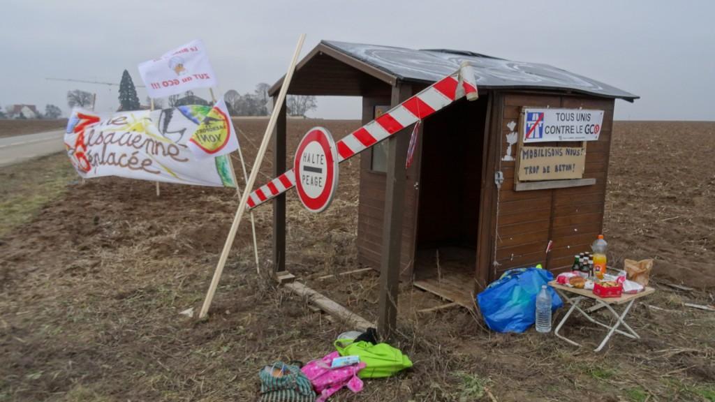 Occupation de la cabane anti-GCO de Stutzheim-Offenheim