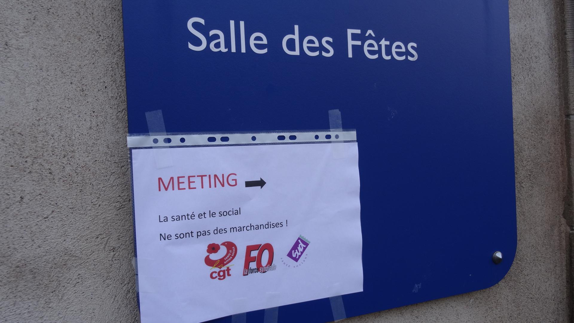 Santé-Social: Assemblée générale FO-CGT-Sud à Strasbourg