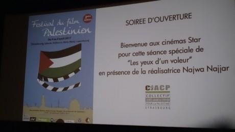 Festival du film palestinien 2017 à Strasbourg