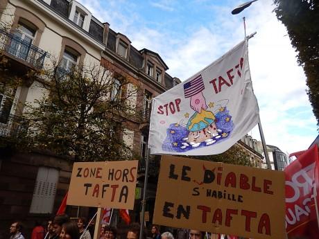 Journée européenne contre le TAFTA à Strasbourg