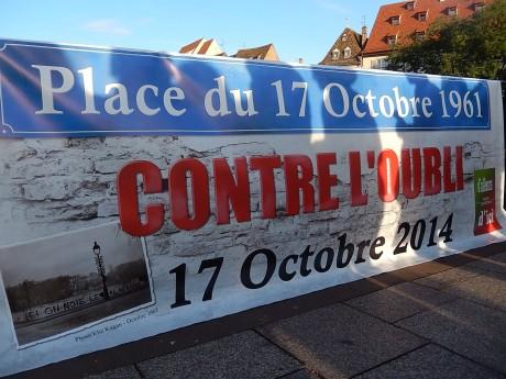 17 octobre 1961-2014 contre l'oubli à Strasbourg