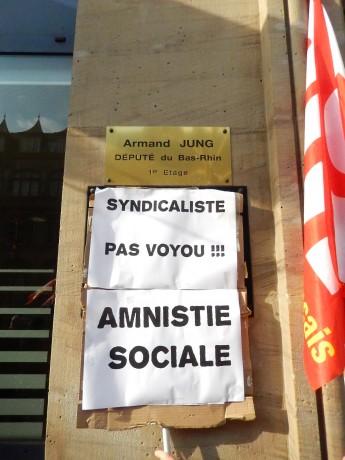 Le Front de gauche 67 pour l'amnistie sociale à Strasbourg