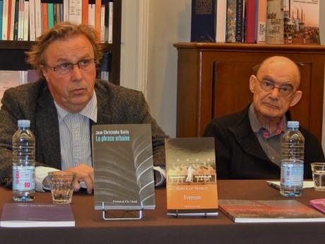 Jean-Luc Nancy et Jean-Christophe Bailly à la librairie Quai des Brumes à Strasbourg