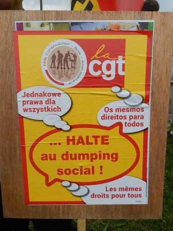 Syndicalistes européens contre le dumping social au Parlement de Strasbourg