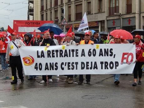 Mobilisation importante à Strasbourg en défense des retraites