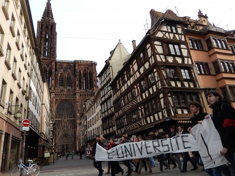 Marche contre le fascisme à Strasbourg