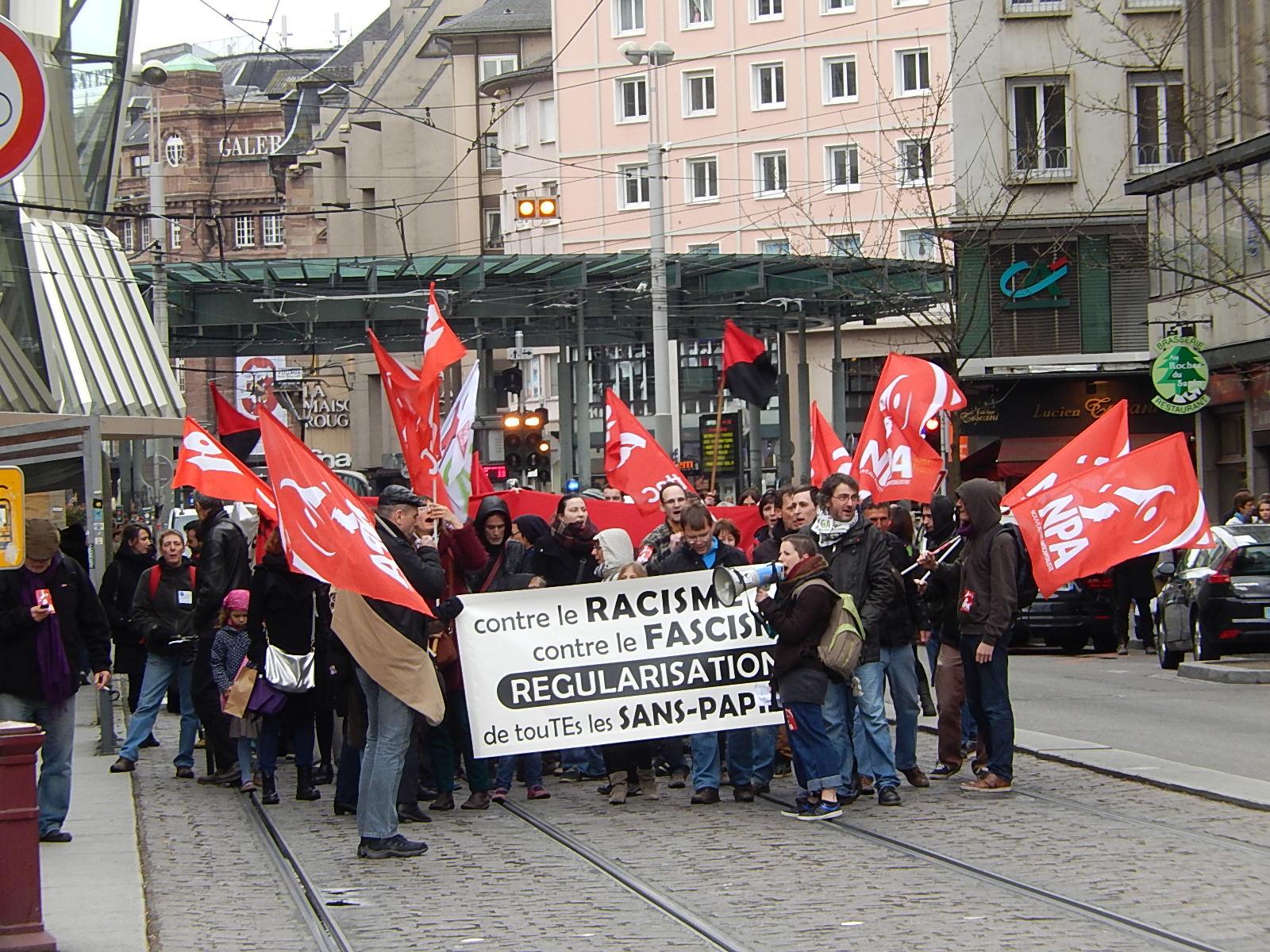 Manifestation antifasciste et antiraciste à Strasbourg