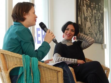 Marcela Iacub, avec Sandra Bohringer, à Strasbourg