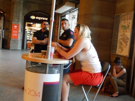 Sécurité ferroviaire Gare de Strasbourg_feuille2chou_photo