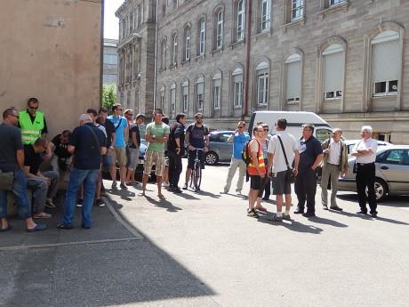 Ag cheminots en grève Strasbourg