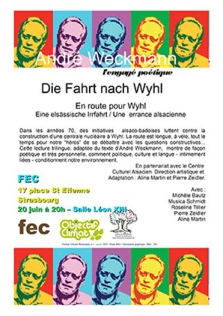 Die Fahrt nach Wyhl, de André Weckmann, le 20 juin, 18h30 à la Maison des Associations à Strasbourg, en association avec Initiative Citoyenne d'Alsace