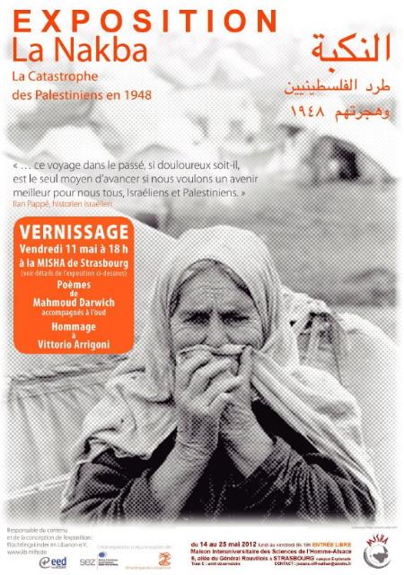 Nakba: exposition, poésie, conférence à Strasbourg
