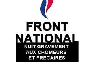 Les chômeurs répondent à Mme Le Pen : « Ce sont vos mots et vos idées qui sont un crachat au visage des chômeurs ».