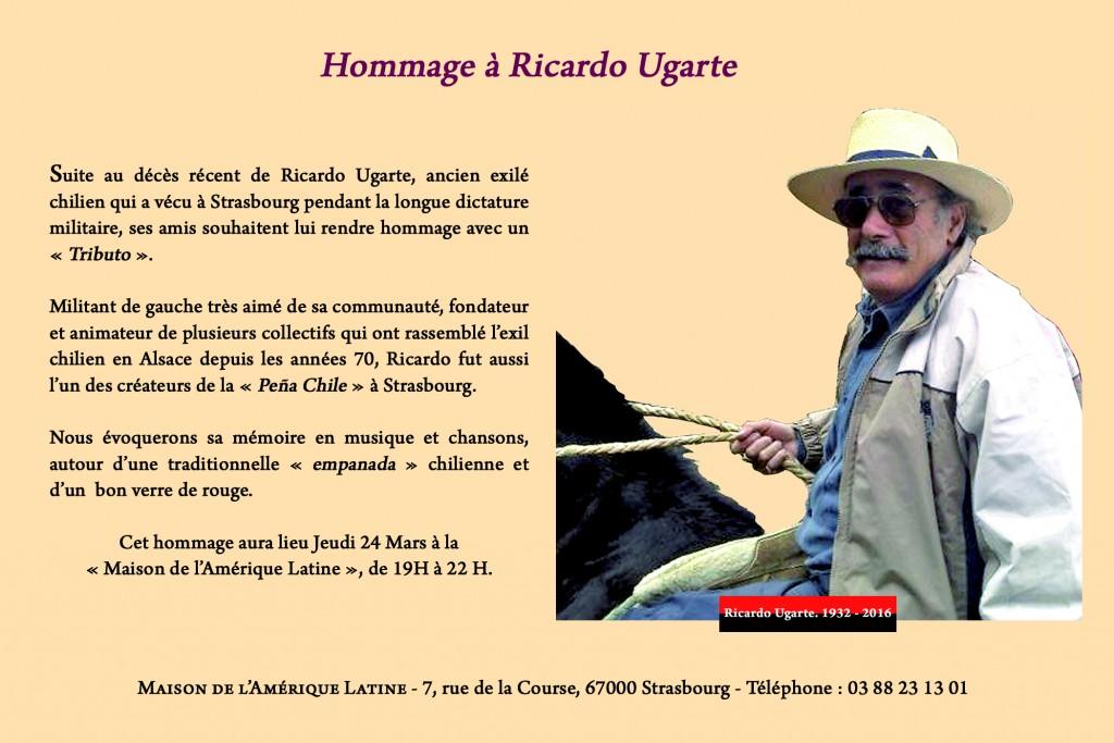 HOMMAGE RICARDO UGARTE - MARS 2016