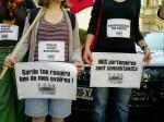 Rassemblement contre l'homophobie devant la représentation du Vatican à Strasbourg