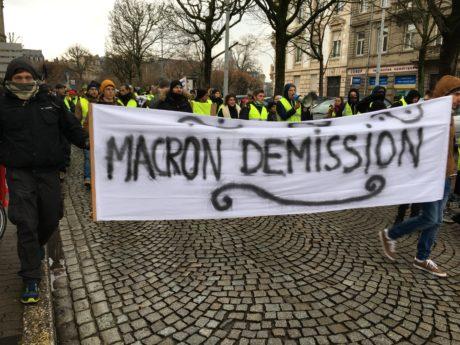 2000  Gilets Jaunes à Strasbourg le 12 janvier 2019