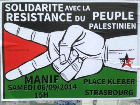 6 septembre 2014 Manifestation à Strasbourg solidaire du peuple palestinien