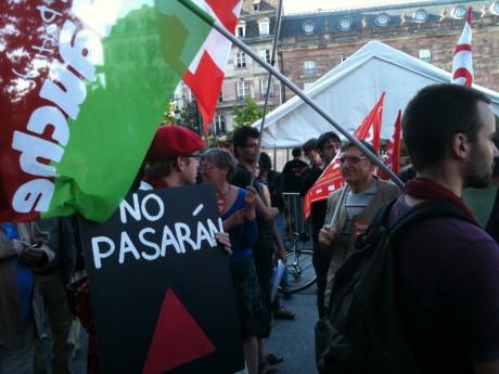 Strasbourg: 200 manifestants contre les assassins fascistes de Clément Méric, et 400 contre Erdogan