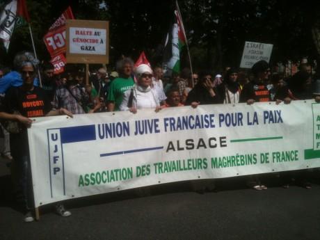 Gaza-Mulhouse: un millier de manifestants