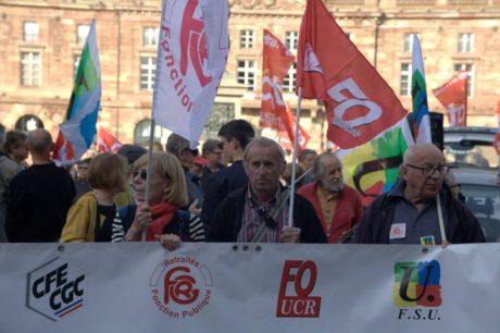 700 retraité-e-s dans la rue à Strasbourg
